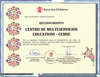 Condecoración Save the Children